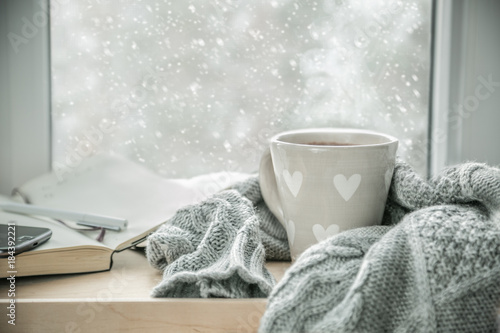 Poster Thee Winter cozy hot chocolate