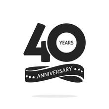 40 Years Anniversary Logo Temp...
