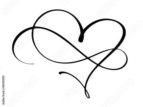 Obraz na plátně Vintage heart and infinity for Valentines and wedding day vector illustration as design element