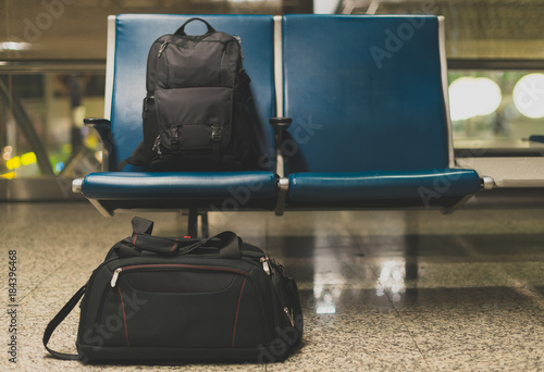 Fotografie, Obraz  Forgotten travel bags in the airport.