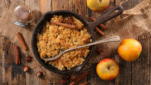 homemade apple crumble Canvas Print