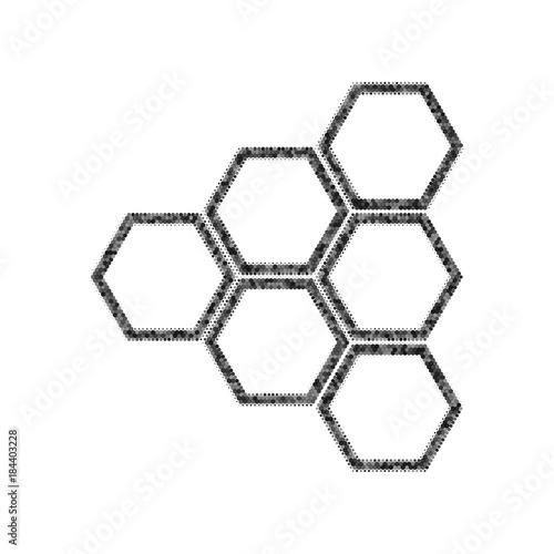 Obraz na plátně Honeycomb sign