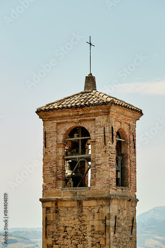 Fotografie, Obraz  San marino, San Marino - July 10, 2017: City bell tower.