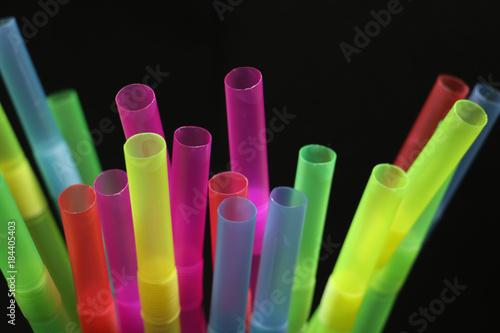 Fotografia, Obraz cocktails straws colorful for party