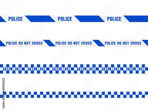 blue police tape Fotobehang