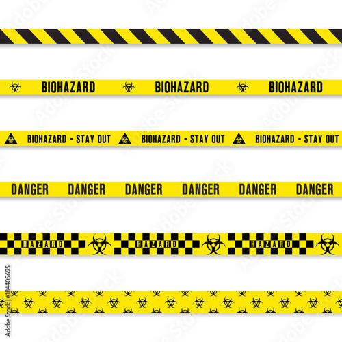 biohazard yellow tape set Canvas Print