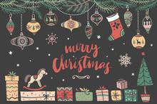 Christmas Hand Drawn Design El...