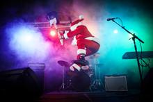 Santa Claus Plays Rock.