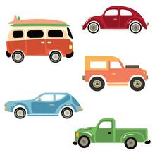 A Set Of Cartoon Cars. Collect...