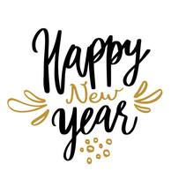 Happy New Year Calligraphy