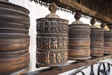 Prayer Wheels Made From Metal ...