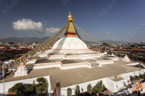 Boudhanath stupa in Kathmandu, Nepal Fototapet