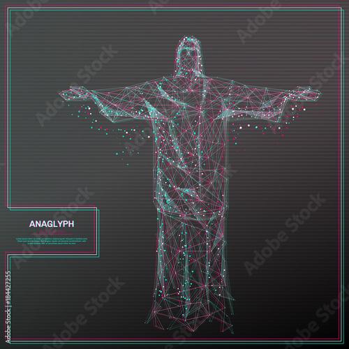 Photo Vector distorted glitch concept