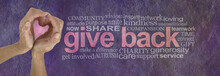 Give Back With Love Word Cloud...