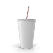 Soft Drink Paper Cup With Stra...