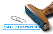 Call for Papers or Abstracts Over White Background
