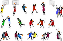 Basketball Players Illustratio...