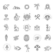 Egypt Icons And Design Element...