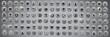 Leinwanddruck Bild - Various app icons in city