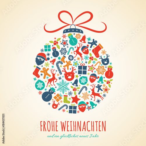 Frohe Weihnachten - Merry Christmas in