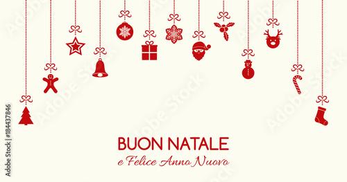 Buon Natale Ornament.Buon Natale Merry Christmas In Italian Christmas Card With