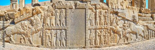 Foto op Plexiglas Midden Oosten Panorama of Persian reliefs in Persepolis, Iran