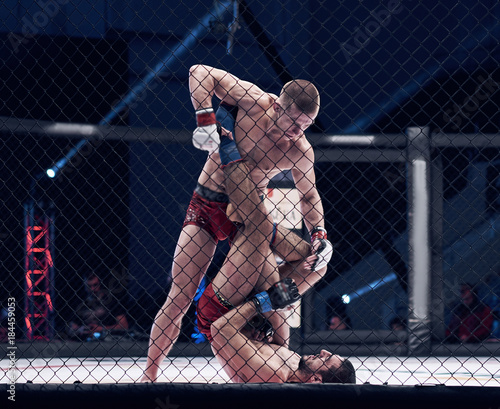 Photo  MMA in a cage