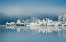 Winter Morgenstimmung Am Grundlsee