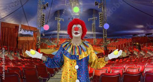 Clown in Zirkusmanege