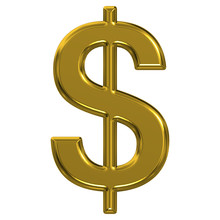 Golden Dollar Sign Illustration