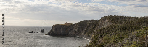Tablou Canvas Coastline of Skerwink Trail, Trinity, Newfoundland, Canada