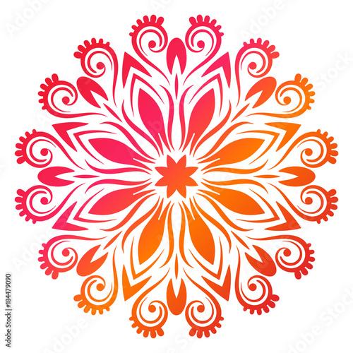 Colorful gradient flower mandala Canvas Print