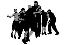 Fighting Young Street Hooligan...