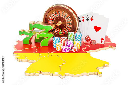 фотография  Casino and gambling industry in Germany concept, 3D rendering