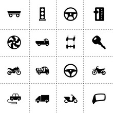 Drive Icons. Vector Collection Filled Drive Icons