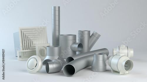 Valokuva  Ventilation system items