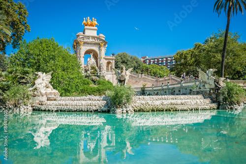 Fototapeta Fountain Park Ciutadella ( Parc de la Ciutadella ) in Barcelona, Catalonia, Spai