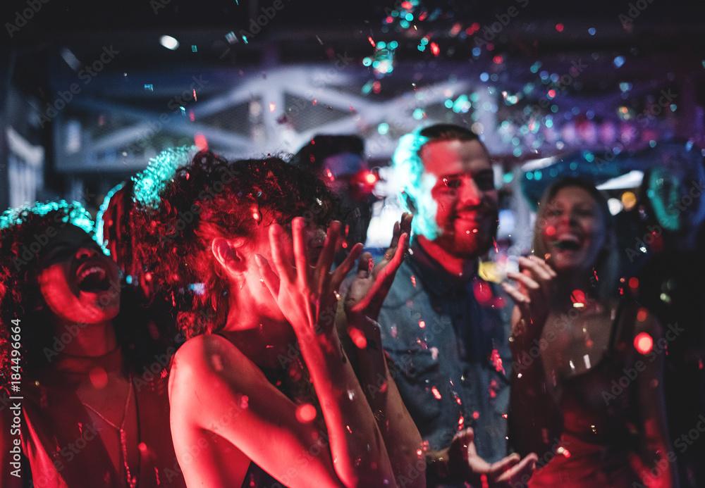 Fototapeta People enjoying a party