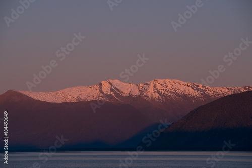 Recess Fitting Green blue Mountain Sunset