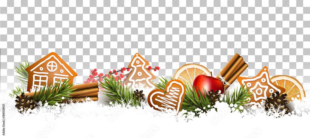 Fototapeta Traditional Christmas border