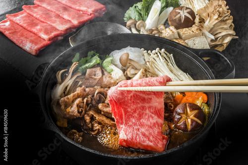 和牛ですきやき Tasty sukiyaki Japanese cuisine
