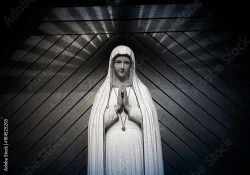 Valokuva virgin mary statue
