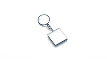Blank Metal Square White Key C...