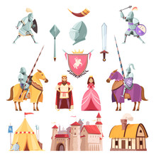 Medieval Royal Heraldry Cartoo...