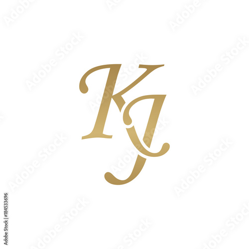 Initial Letter Kj Overlapping Elegant Monogram Logo Luxury Golden Color Buy This Stock Vector And Explore Similar Vectors At Adobe Stock Adobe Stock