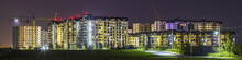 Night Panorama Of New Built An...