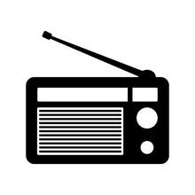 Radio Retro Icon Vector