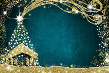 Christmas Nativity Scene And T...