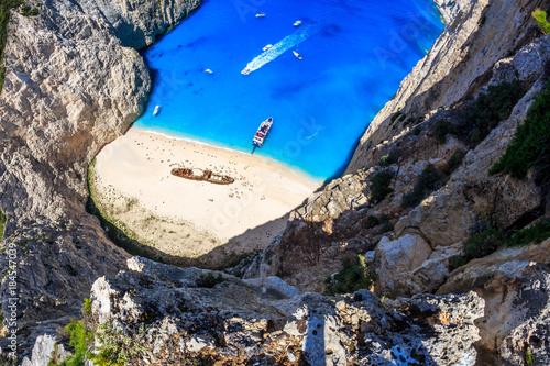 Obraz na plátně Shipwreck beach ( Navagio ) in Zante Zakynthos Greece