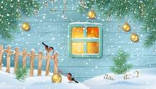 Winter Snowy Scene